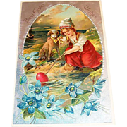 PFB: Best Easter Wishes Embossed Postcard