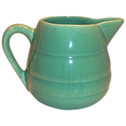 Bauer Pottery Pastel Green Ringed Design Pitcher