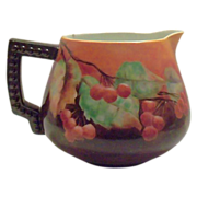 SALE Hohanzollern Cherries & Leaves Handpainted Pitcher