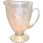Jeanette Glass: Iris & Herringbone Crystal Pitcher
