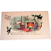 "Vintage ""A Merry Christmas To You"" Postcard"