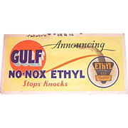 Vintage Gulf Oil Advertising Cardboard Ink Blotter