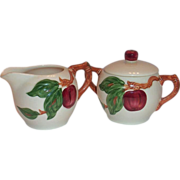 Franciscan Apple Lidded Sugar & Creamer Set