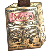 Vintage Post Toasties Watch Fob