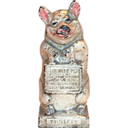 Thrifty Pig Cast Iron Bank