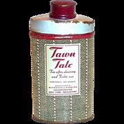 Tawn Talc Powder Tin - 1940's