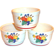 Knowles Utility Ware Floral Design Custard Cup