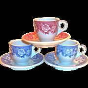 SALE Shenango Restaurant Ware Transfer Ware Demi Cup & Saucer Set