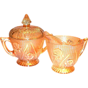 Iris & Herringbone Iridescent Sugar & Creamer Set