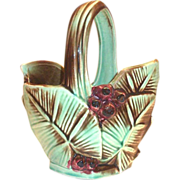 McCoy Pottery Leaf & Berry Basket - 1948