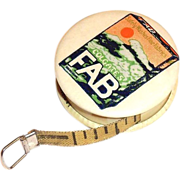 Vintage Colgate FAB Advertising Celluloid Measuring Tape