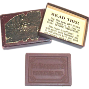 E. A. Harrington Sharpening Stone In Original Box