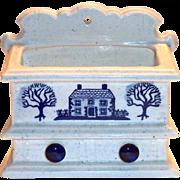 Metlox Poppytrail Blue Provincial Porcelain Wall Pocket