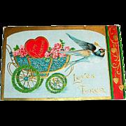 Vintage Loves Token Valentine Postcard