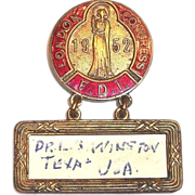 London Congress F.D.I. 1952 Medal
