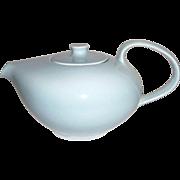 "Russell Wright ""Iroquois"" Aqua Porcelain Teapot"