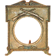 SOLD Vintage WWI Brass Freestanding Military Picture Frame