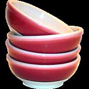 Restaurant Ware: Shenango China Dark Red Trim Chili Bowl