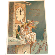 SOLD Vintage A Happy New Year Postcard