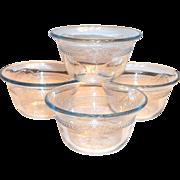 Fire King Blue Philbe or Sapphire Blue 5 Oz Glass Custard Cup