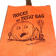 Vintage Storpak Unused Halloween Paper Trick Or Treat Bag
