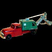 Vintage Hubley Toy Diesel Kiddietoy Metal Steam Shovel Truck #469