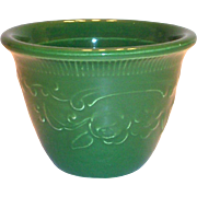 Vintage Genuine Oven Serve Ware Green Pottery Custard Cup