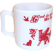 Hazel Atlas Child's Prayer Mug