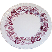 Wedgwood Old Vine Of Etruria Mulberry Colored Design Grape, Leaf & Vine Bread Plate