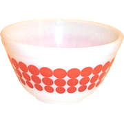 Vintage Pyrex Red Polka Dot #401, 1 1/2 Pt Bowl
