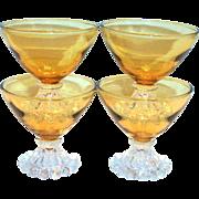 Anchor Hocking Berwick/Boopie Amber Glass Sherbert