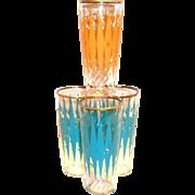 Retro Diamond Shaped Design High Ball or Ice Tea Glass