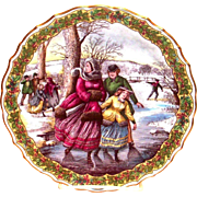 "Spode China: The Victorian Christmas Series: ""The Skater"" Plate No. 2"