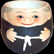 Vintage Goebel Friar/Monk Hand Painted Porcelain Egg Cup