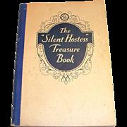 "Vintage Paperback The ""Silent Hostess"" Treasure Book Cookbook - 1930"
