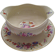 SALE Syracuse China Gravy With Attached Underplate - Sharon