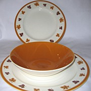 SALE Homer Laughlin Maplewood - Chop Plate, Serving Bowl, Dinner Plate
