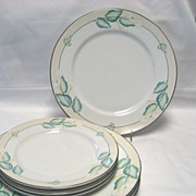 SALE 7 Lenox China Dancing Lilies Plates - 4 Dinner - 3 Salad