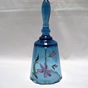 SALE Fenton Blue Hand Painted Bell
