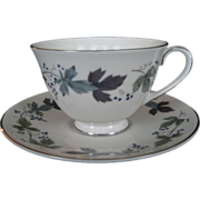 SALE Royal Doulton Burgundy Cup and Saucer - 4 Available