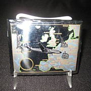 SALE DBGM Chrome Cigarette Case - Map Decoration