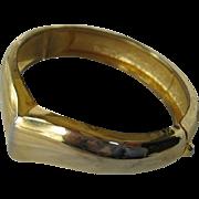 SALE Goldtone Cuff Bracelet