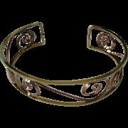 SALE 12K Scroll Cuff Bracelet