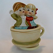 "SOLD Hi-Mark ""Tea For Two"" Music Box"