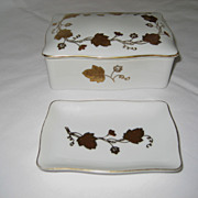 SALE Lefton Lidded Cigarette Box and Ashtray