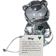 Fenton May Birthstone Bear