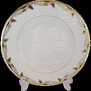 Lenox Essex Maroon Smooth Dinner Plates - 10 Available