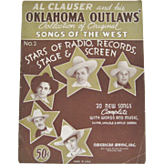 Al Clauser and His Oklahoma Outlaws Songbook - 1939