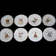 SALE Set of 8 Ardalt Japan Poker Coasters/Ashtrays