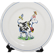 SALE Homer Laughlin China Cow Plate